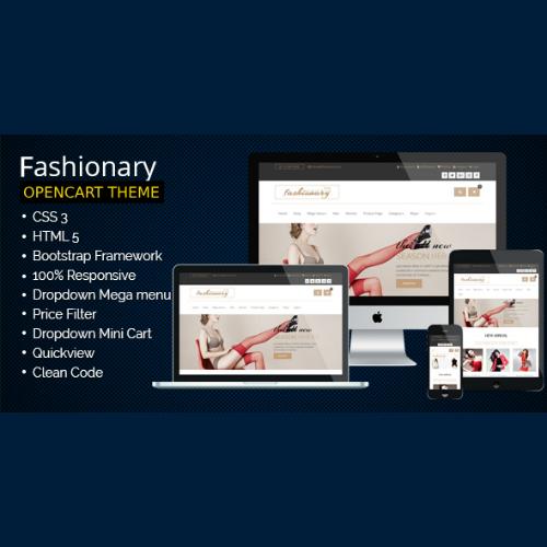 Fashionary - Opencart Fashion Theme Responsive 2.x & 3.x