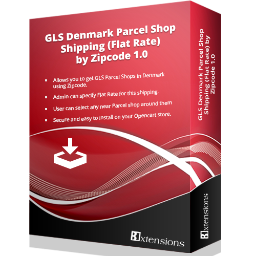 GLS Denmark Parcel Shop Shipping (Flat Rate) by Zipcode