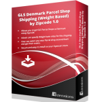 GLS Denmark Parcel Shop Shipping (Weight Based) by Zipcode