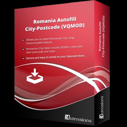 Romania Autofill City-Postcode (VQMOD)